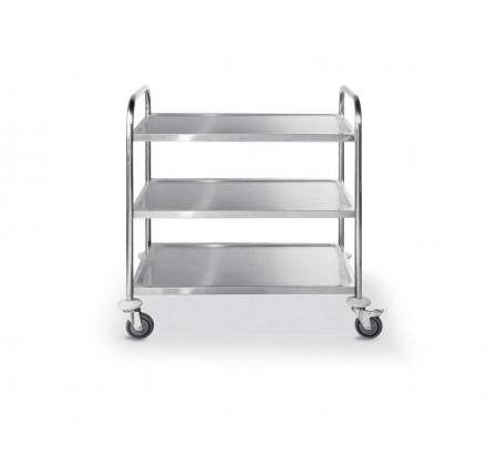 Serveringsvagn i rostfritt - flatpack